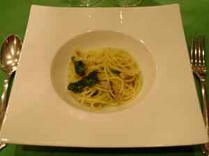 菜の花とベーコンのペペロンチーノ