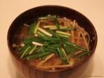 えのき&根菜の味噌汁