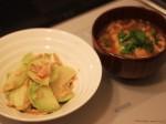 コールラビの炒め物と味噌汁